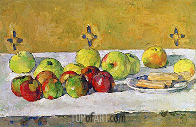 Apples and Biscuits, c.1877 | Cezanne | Gemälde Reproduktion