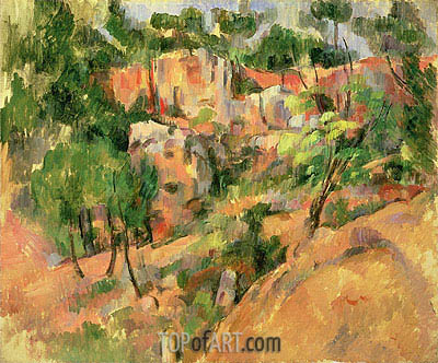 Corner of Quarry, c.1900/02 | Cezanne | Painting Reproduction