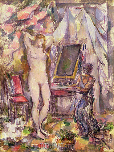 Cezanne | Interior with Nude, 1880