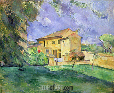 Farm at Jas de Bouffan, undated | Cezanne| Painting Reproduction