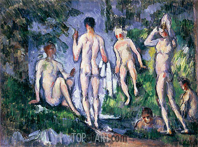 Men Bathing, undated | Cezanne| Painting Reproduction