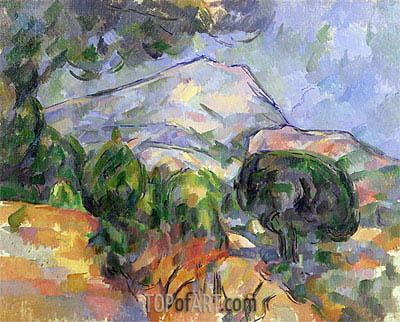 Cezanne | Montagne Sainte-Victoire au-dessus de la route du Tholonet, c.1904