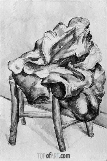 Drapery on a Chair, c.1980/00 | Cezanne | Painting Reproduction