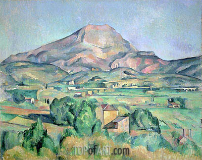 Montagne Sainte-Victoire, undated | Cezanne | Painting Reproduction