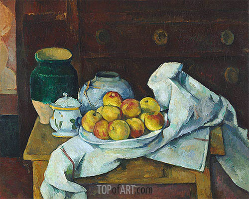 Still Life with Commode, c.1887/88 | Cezanne| Gemälde Reproduktion