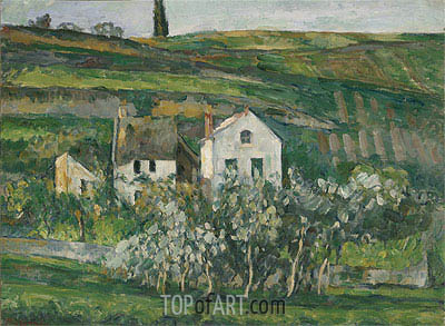 Small Houses near Pontoise, c.1873/74 | Cezanne| Painting Reproduction