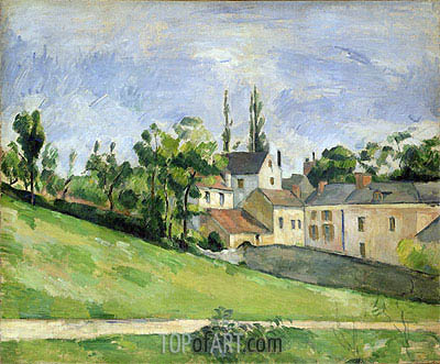 The Uphill Road, 1881 | Cezanne | Painting Reproduction