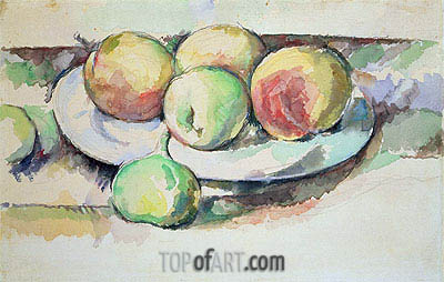 Still Life of Peaches and Figs, undated | Cezanne | Painting Reproduction