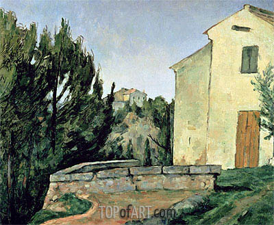 The Abandoned House at Tholonet, undated | Cezanne | Painting Reproduction