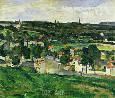 Near Auvers-sur-Oise, undated | Cezanne | Painting Reproduction