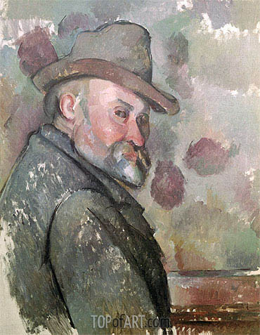 Self Portrait, c.1890/94 | Cezanne| Painting Reproduction