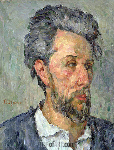 Portrait of Victor Chocquet, c.1876/77 | Cezanne | Painting Reproduction