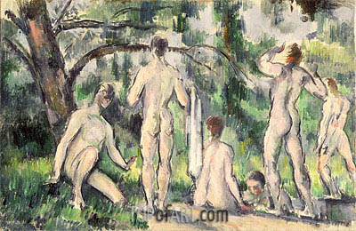 Study of Bathers, c.1895/98 | Cezanne| Painting Reproduction