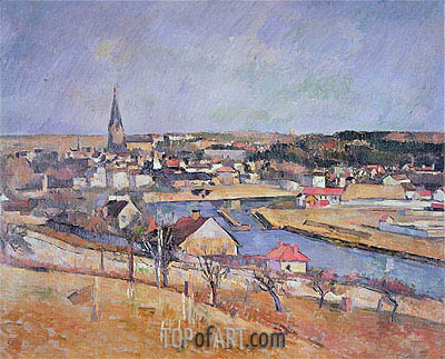 A French Village, undated | Cezanne| Painting Reproduction