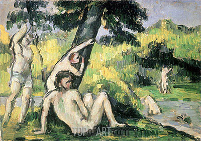 The Bathing Place, undated | Cezanne| Gemälde Reproduktion