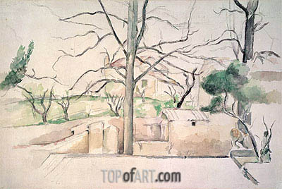 Winter, Jas de Bouffan, undated | Cezanne | Painting Reproduction
