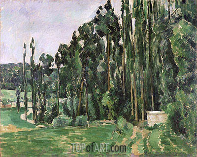 The Poplars, c.1879/82 | Cezanne | Painting Reproduction
