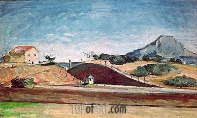 The Railway Cutting, c.1870 | Cezanne | Painting Reproduction