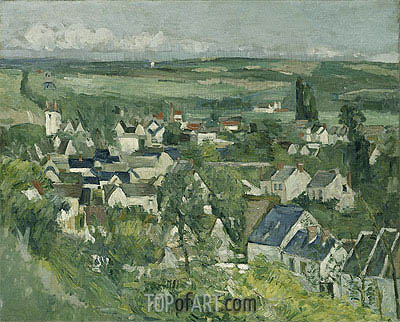 Auvers, Panoramic View, c.1873/75 | Cezanne | Painting Reproduction
