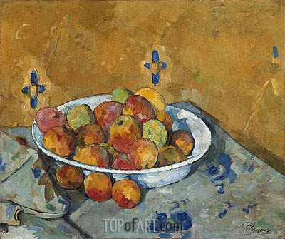 The Plate of Apples, c.1877 | Cezanne | Gemälde Reproduktion