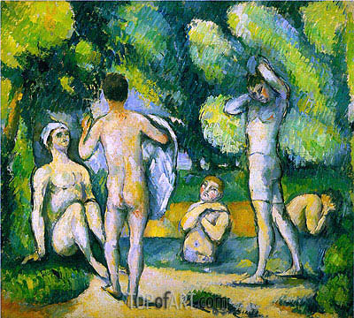 Bathers, c.1880 | Cezanne| Painting Reproduction