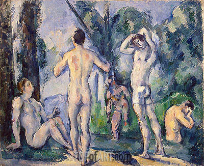 Bathers, c.1890/91 | Cezanne| Painting Reproduction