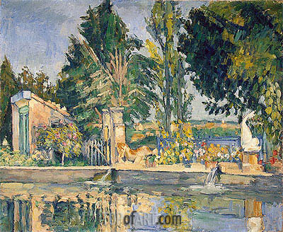 Jas de Bouffan, the Pool, c.1876 | Cezanne| Painting Reproduction