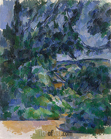 Blue Lanscape, c.1904/06 | Cezanne| Painting Reproduction