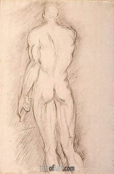 Ecorche (after Houdon), c.1892/95 | Cezanne| Painting Reproduction