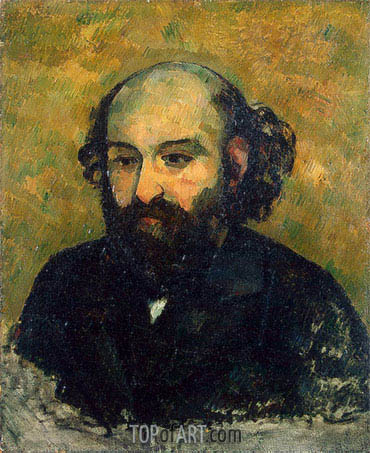 Self-Portrait, c.1880/81 | Cezanne| Painting Reproduction