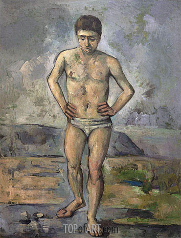 The Bather, c.1885 | Cezanne | Painting Reproduction