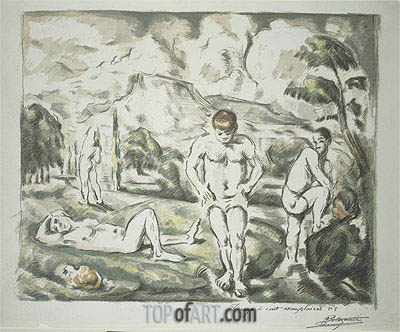 The Bathers, c.1896/98 | Cezanne | Painting Reproduction