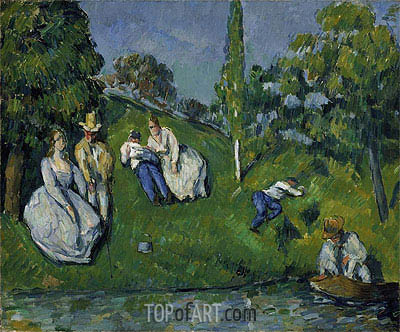 The Pond, c.1877/79 | Cezanne | Painting Reproduction