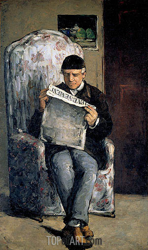 The Artist's Father, 1866 | Cezanne | Painting Reproduction