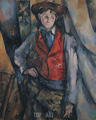 Boy in a Red Waistcoat, c.1888/90 | Cezanne | Painting Reproduction