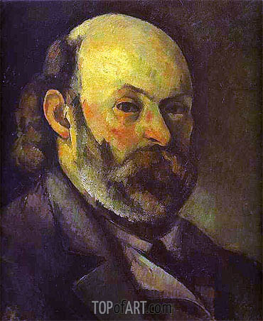 Self-Portrait, c.1879/85 | Cezanne| Painting Reproduction