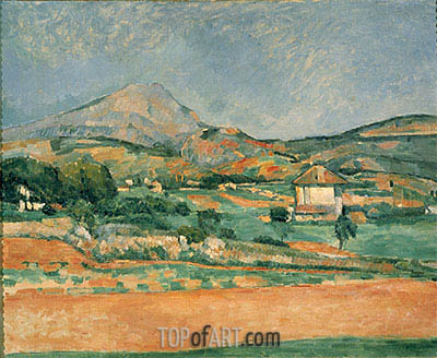 View over Mont St. Victoire, c.1882/85 | Cezanne | Painting Reproduction