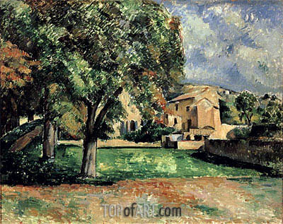 Trees in a Park, Jas de Bouffan, c.1885/87 | Cezanne | Painting Reproduction