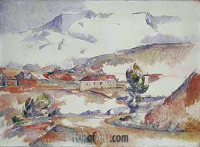 Montagne Sainte-Victoire from near Gardanne, c.1887 | Cezanne | Painting Reproduction