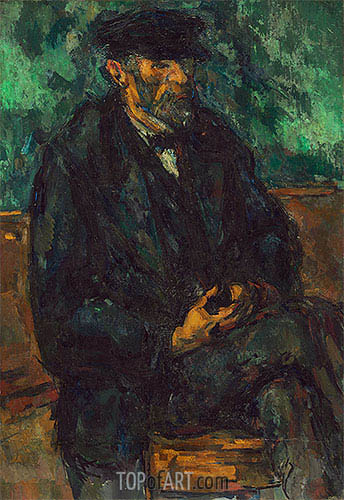 The Gardener Vallier, c.1905 | Cezanne | Painting Reproduction