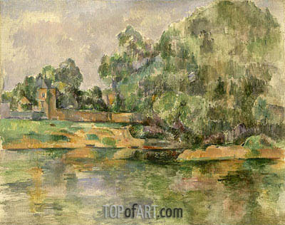 Riverbank, c.1895 | Cezanne| Painting Reproduction