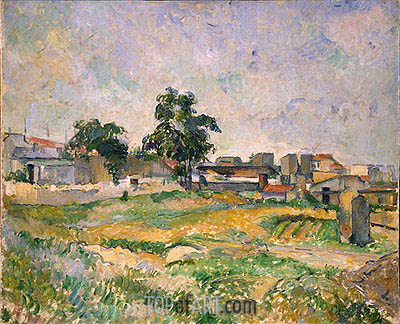 Landscape near Paris, c.1876 | Cezanne | Painting Reproduction