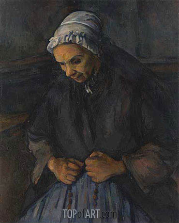 An Old Woman with a Rosary, c.1895/96 | Cezanne | Painting Reproduction