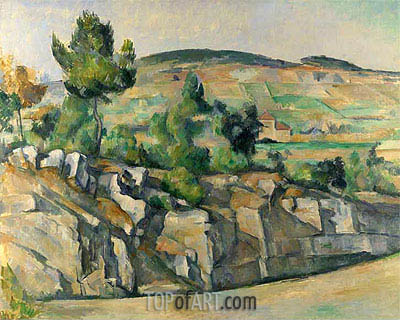 Hillside in Provence, c.1890/92 | Cezanne | Painting Reproduction