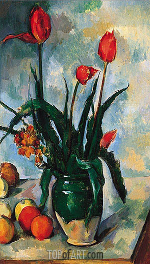 Tulips in a Vase, c.1890/92 | Cezanne | Painting Reproduction