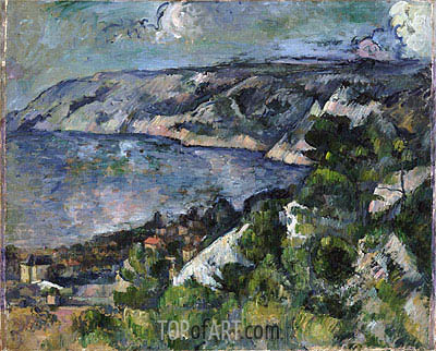 Bay of l'Estaque, c.1879/83 | Cezanne | Painting Reproduction