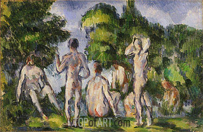 Group of Bathers, c.1895 | Cezanne| Gemälde Reproduktion