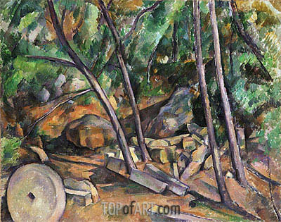 Millstone in the Park of the Chateau Noir, c.1898/00 | Cezanne| Painting Reproduction