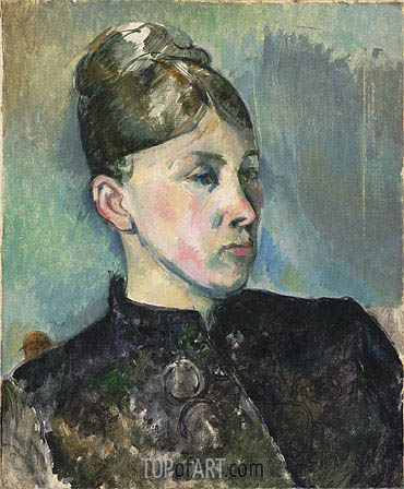 Portrait of Madame Cezanne, c.1886/87 | Cezanne| Painting Reproduction