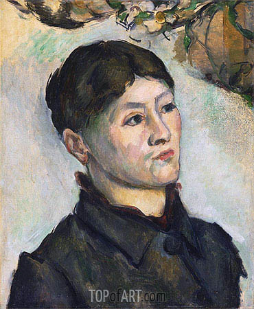 Portrait of Madame Cezanne, c.1885/87 | Cezanne| Painting Reproduction